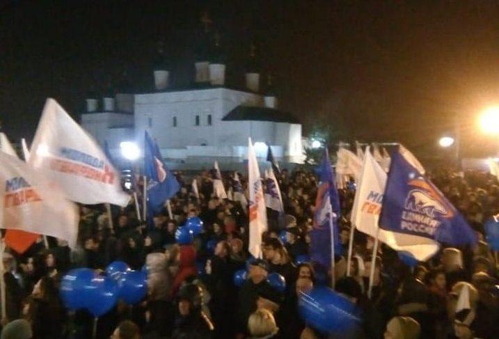 Коллектив ТЮЗа на воскресном митинге